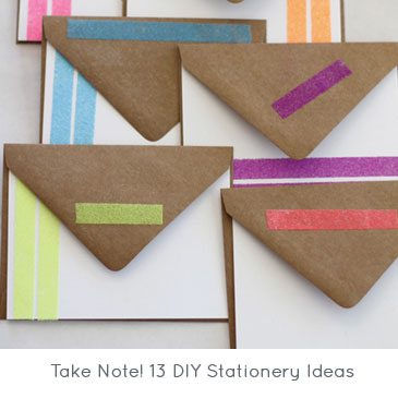 Take Note! 13 DIY Stationery Ideas